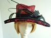 Riona Stone Ascot hat Black and Red